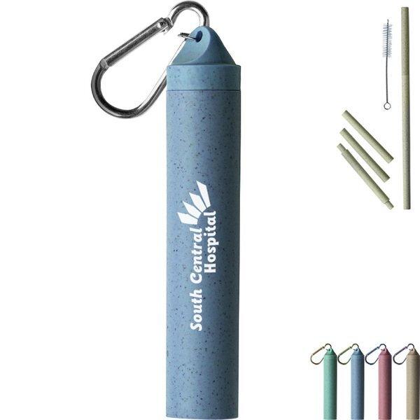 Wheat Straw Keychain Set w/ Cleaning Brush