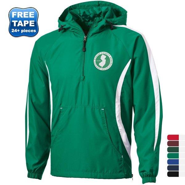 Sport-Tek® Colorblock Raglan Polyester Unisex Anorak
