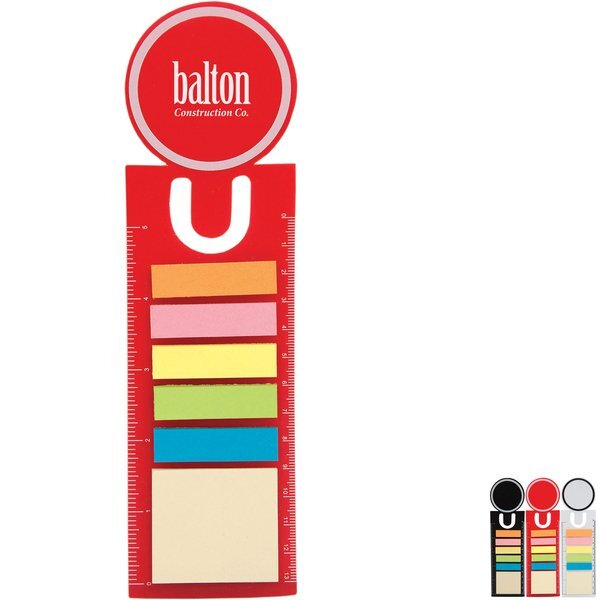 Circle Bookmark Ruler w/ Sticky Notes & Flags