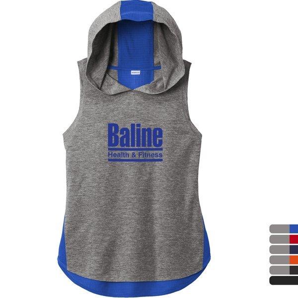 Sport-Tek® PosiCharge® Tri-Blend Wicking Ladies' Draft Hoodie Tank