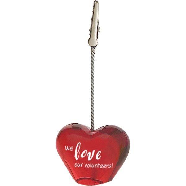 Heart Memo Clip Holder