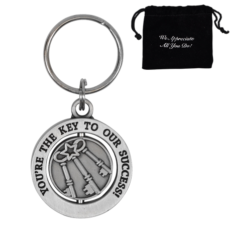 You're the Key to Our Success, Appreciation Swivel Keychain, Stock