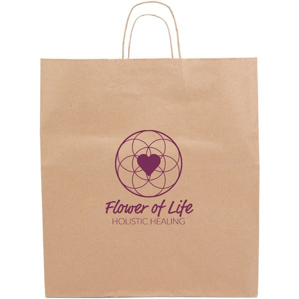 """Eco Knight Kraft Paper Bag with Handles, 14"""" x 16"""""""