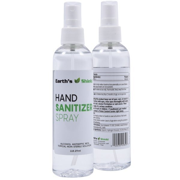 Antibacterial Liquid Sanitizer Spray, 4oz. IN STOCK - ON SALE!
