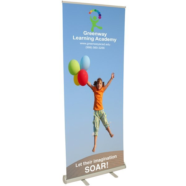 Value Retractor Banner Display Kit, 31-1/2""