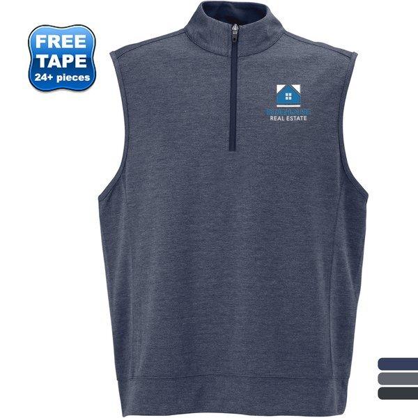 Vansport™ Cypress Moisture Wicking Horizontal Twill Knit Men's Vest