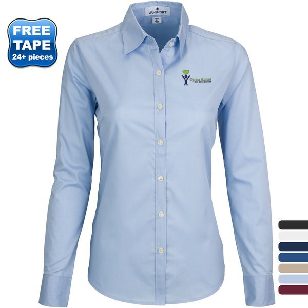 Vansport™ Wicked Woven® Cotton Poly Ladies' Dress Shirt