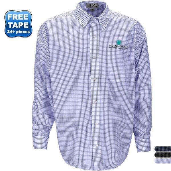 Easy Care Box Plaid Men's Button Down Shirt