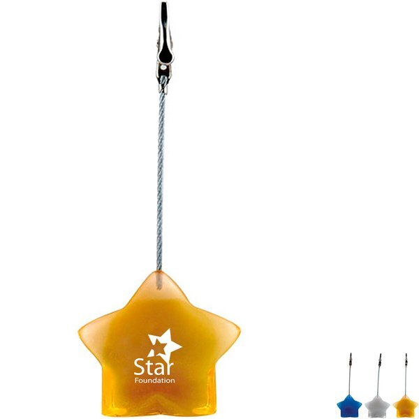 Star Shaped Note Holder Clip