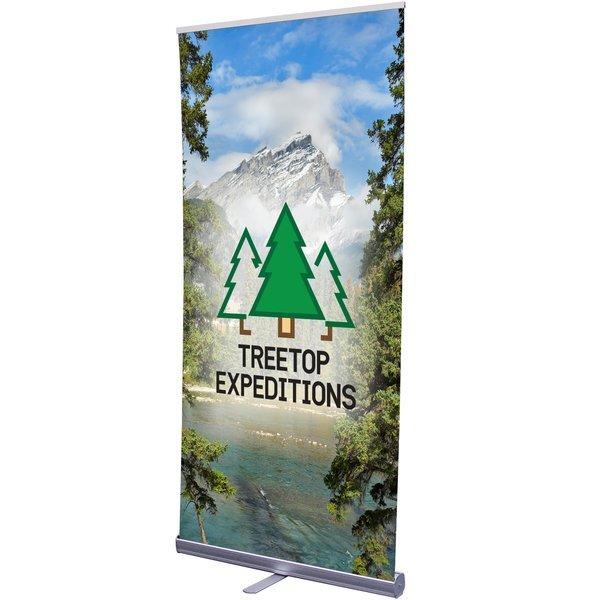 "Economy Plus Retractor Banner Display Kit with Hybrid Media, 33-1/2"""
