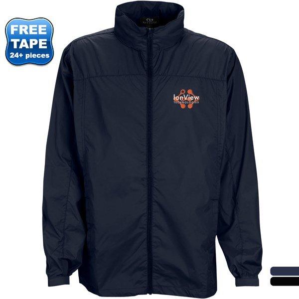 Full-Zip Lightweight Polyester Hooded Men's Jacket
