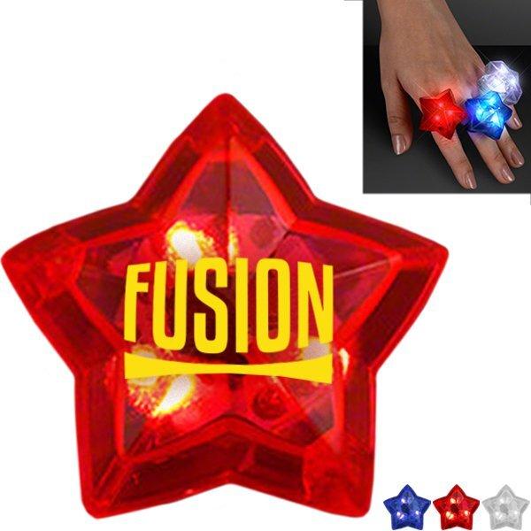 Flashing LED Star Ring