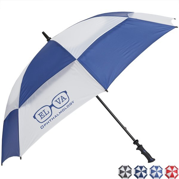 "Challenger- Checkerboard Panels- Manual Open Golf Umbrella, 62"" Arc"