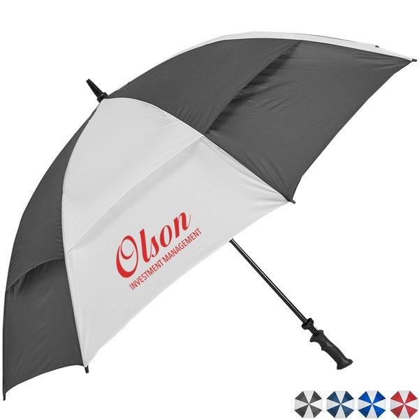 "Challenger- Alternating Panels- Manual Open Golf Umbrella, 62"" Arc"