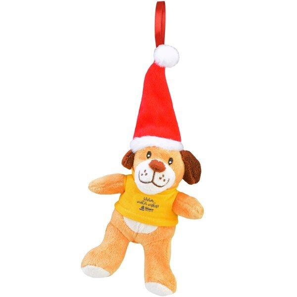 "Chelsea Teddy Bear Co.™ Plush Dog Holiday Ornament, 6"""