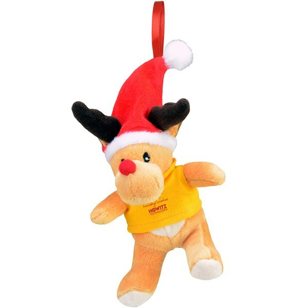 """Chelsea Teddy Bear Co.™ Plush Reindeer Holiday Ornament, 6"""""""