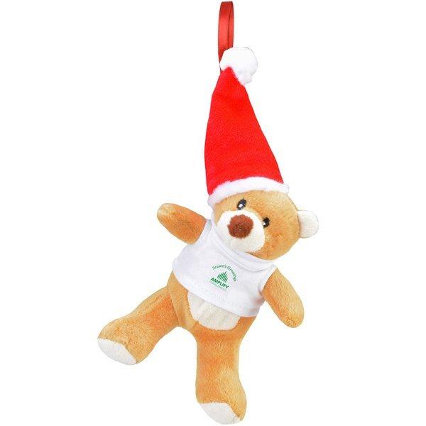 """Chelsea Teddy Bear Co.™ Plush Bear Holiday Ornament, 6"""""""