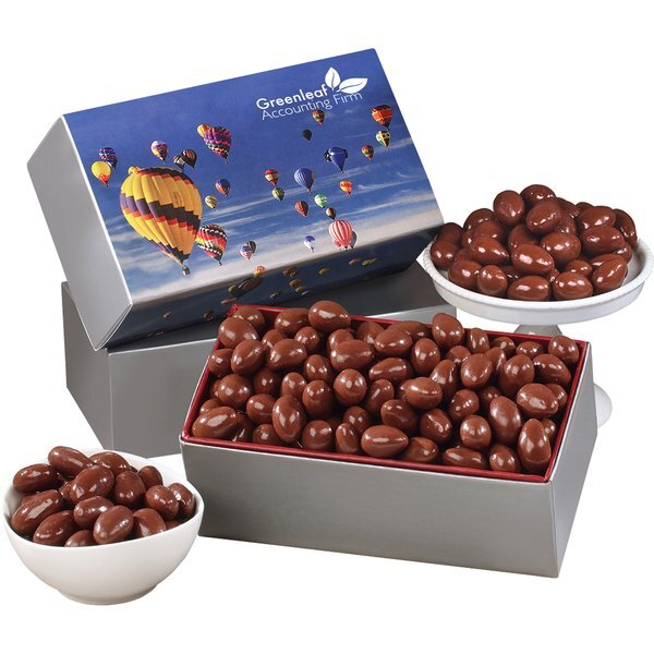 Chocolate Covered Almonds Gift Box, Full Color