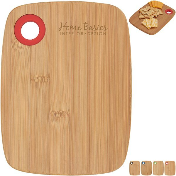 Small Bamboo Cutting Board w/ Silicone Ring