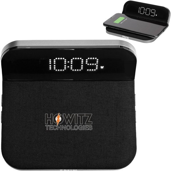 iHome® Compact Alarm Clock with Qi Wireless Charging Pad