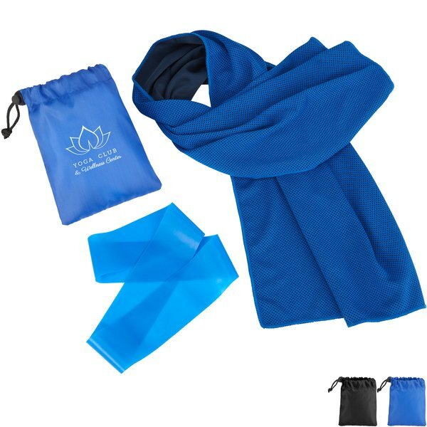 Cooling Towel and Resistance Loop in Pouch