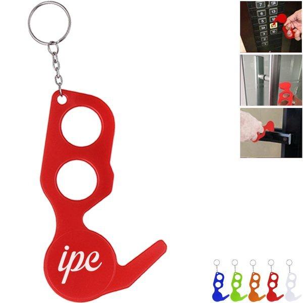 No-Touch Plastic Door Opener Tool Key Chain