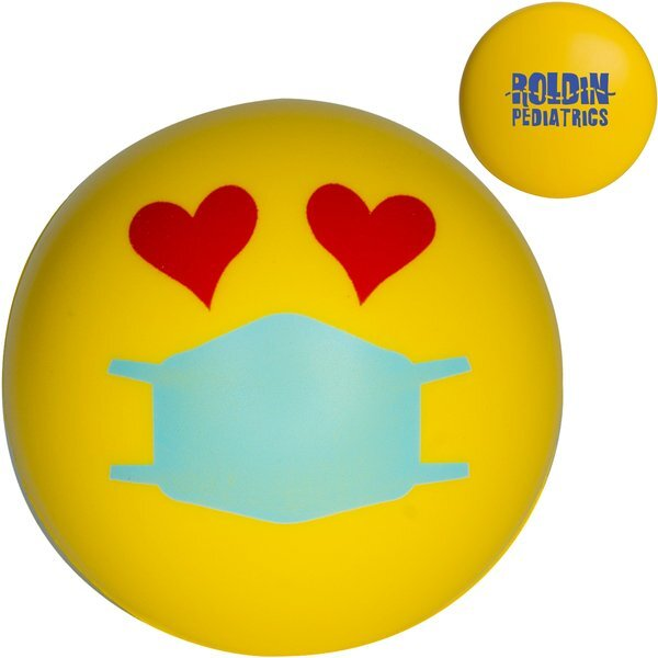 Love Emoji PPE Mask Stress Reliever Ball