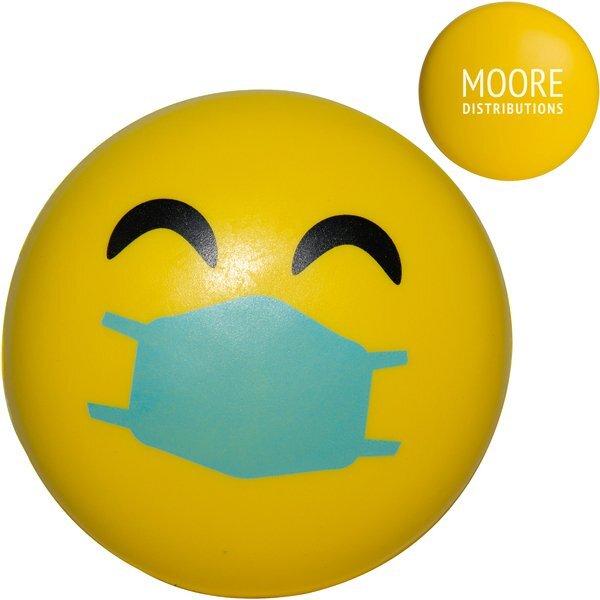 Happy Emoji PPE Mask Stress Reliever