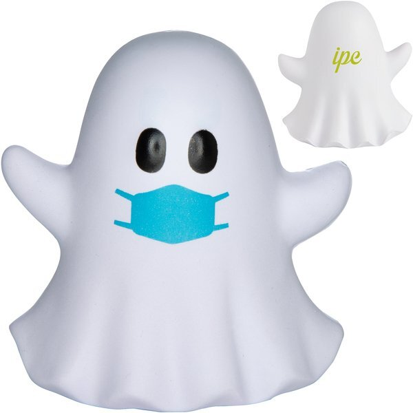 Ghost Emoji PPE Mask Stress Reliever
