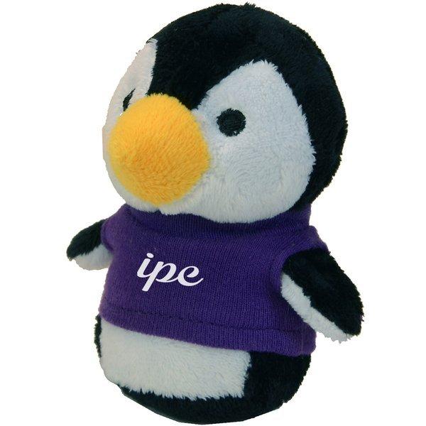 "Shorties Plush Penguin, 4"""