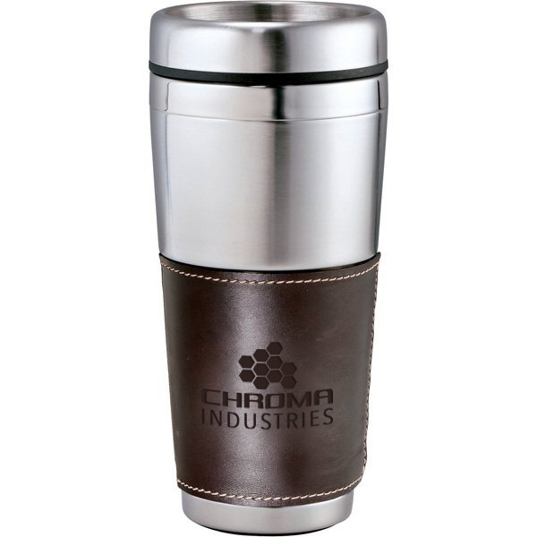 Cutter & Buck® American Classic Leather Tumbler, 16oz.