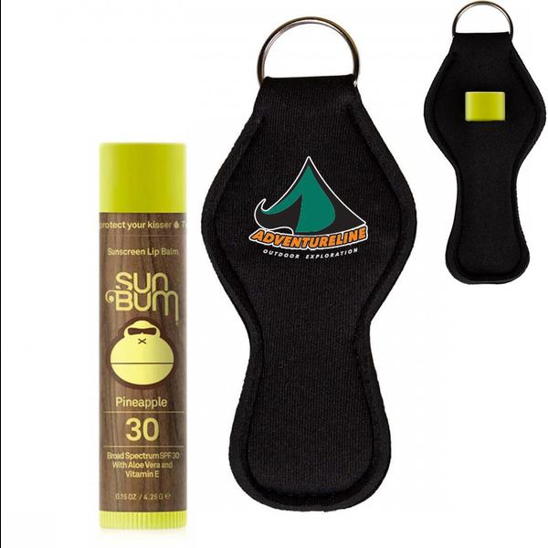 Sun Bum® Neoprene Keychain Holder with Pineapple Lip Balm