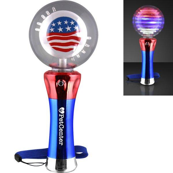 American Flag Spinning LED Light Wand