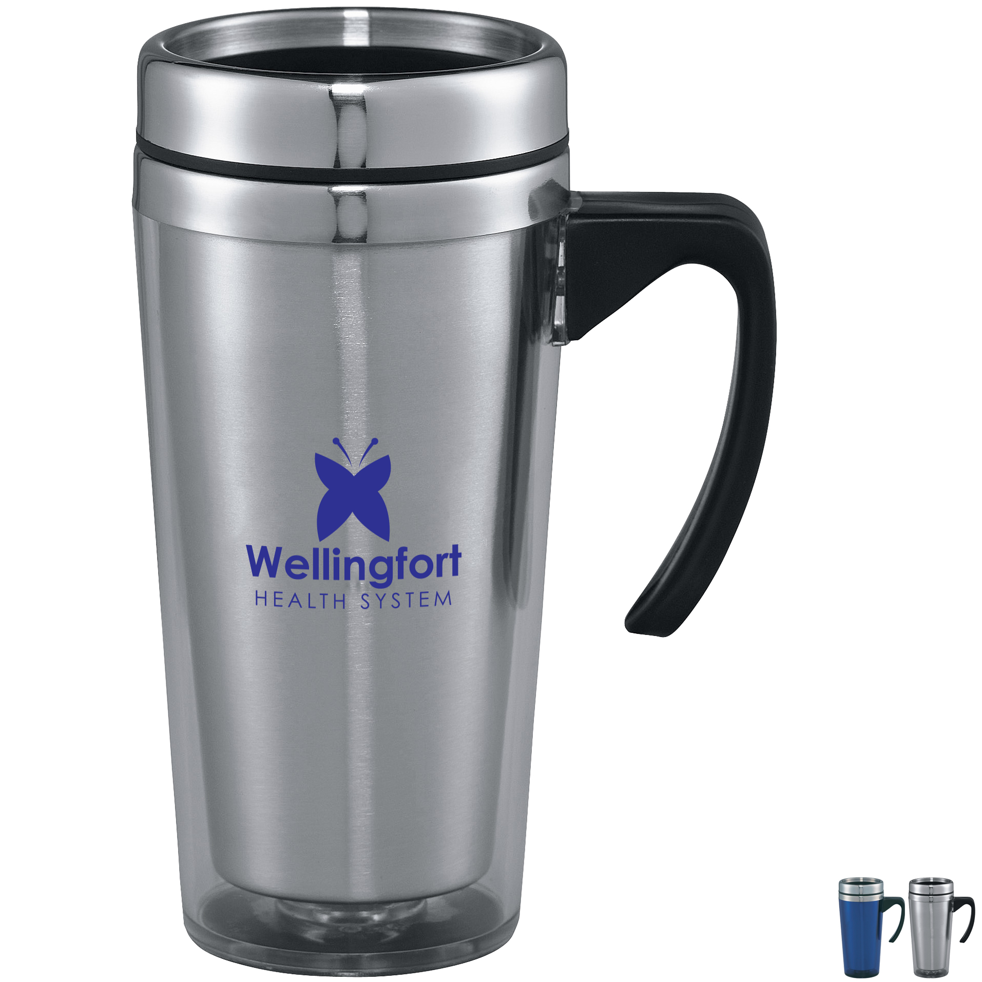 Glacier Double-Wall  Travel Mug, 16oz.