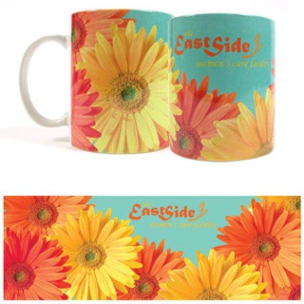 Daisy Design, Full Color Stoneware Mug, 11oz.