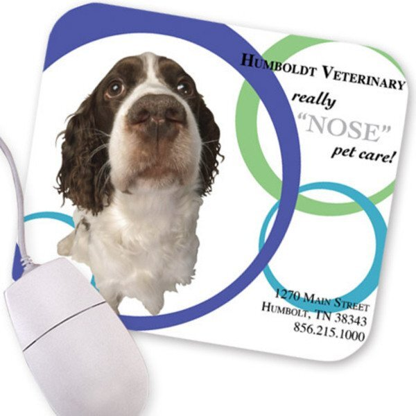Dog Nose Design, Full Color Mouse Pad
