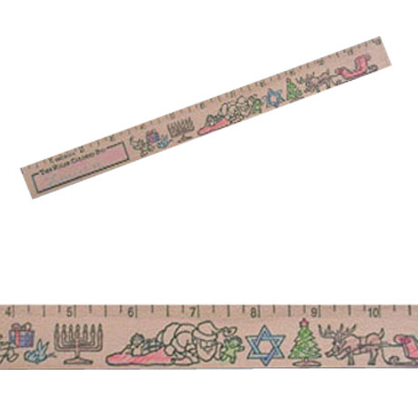 Color-Me Ruler - Christmas & Hanukkah Theme