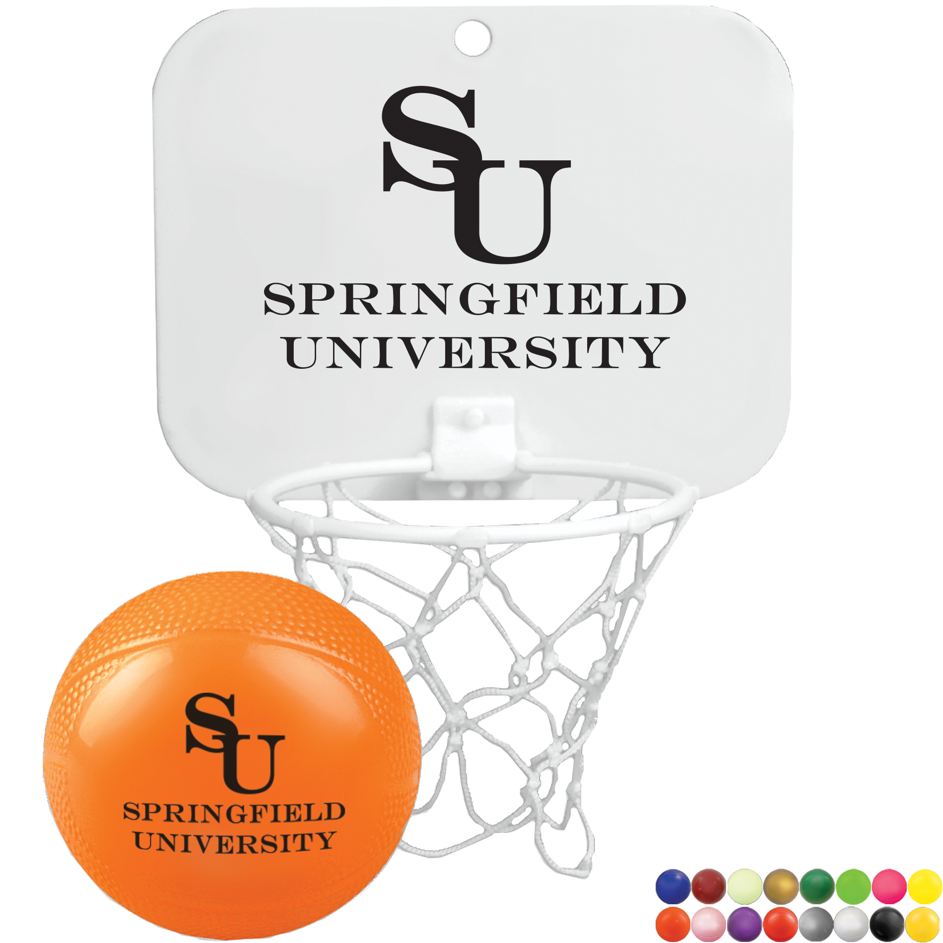 Mini Backboard with Imprinted Basketball