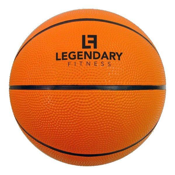 "Mini Rubber Basketball, 7"""