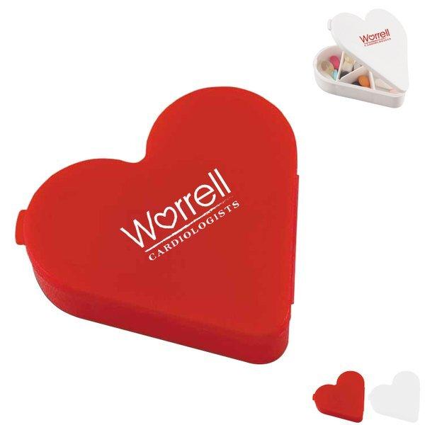 Heart Pill Box, Seven Compartment