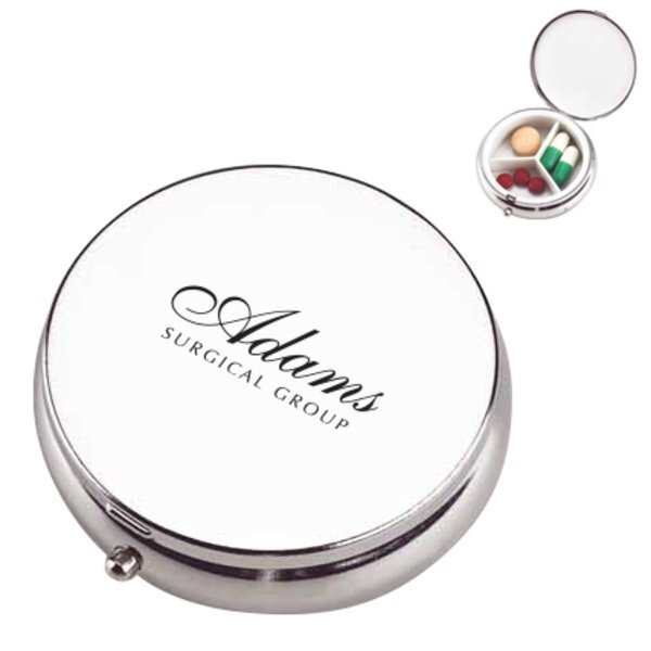 Formal Affair Metal Pill Case, Three Compartment