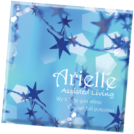 Twinkling Star Design, Full Color Ceramic Coaster