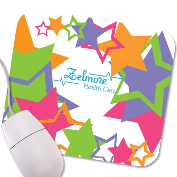 Star Cutout Design, Full Color Mouse Pad