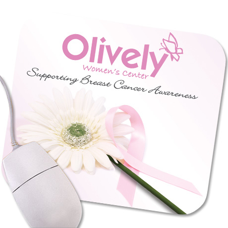 Pink Ribbon Design, Full Color Mouse Pad