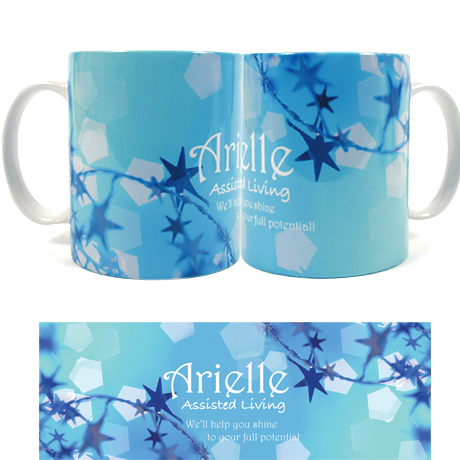 Twinkling Star Design, Full Color Stoneware Mug, 11oz.