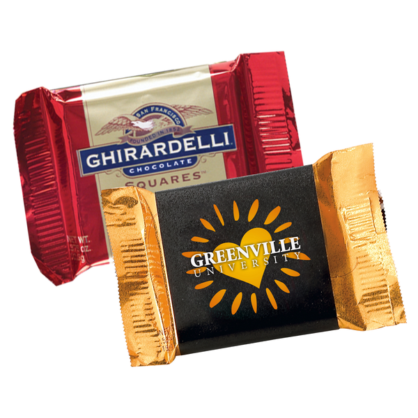 Ghiradelli® Squares Assorted Flavors, Custom Wrapper