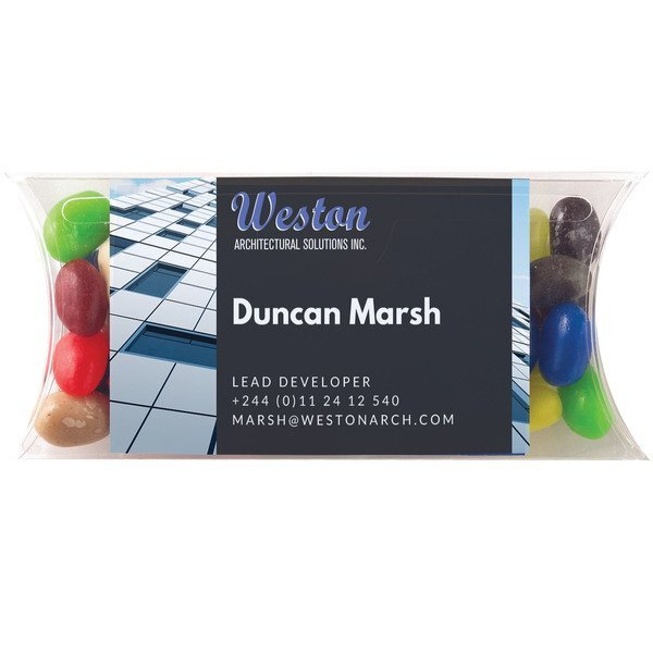 Gourmet Jelly Beans Business Card Candy Case