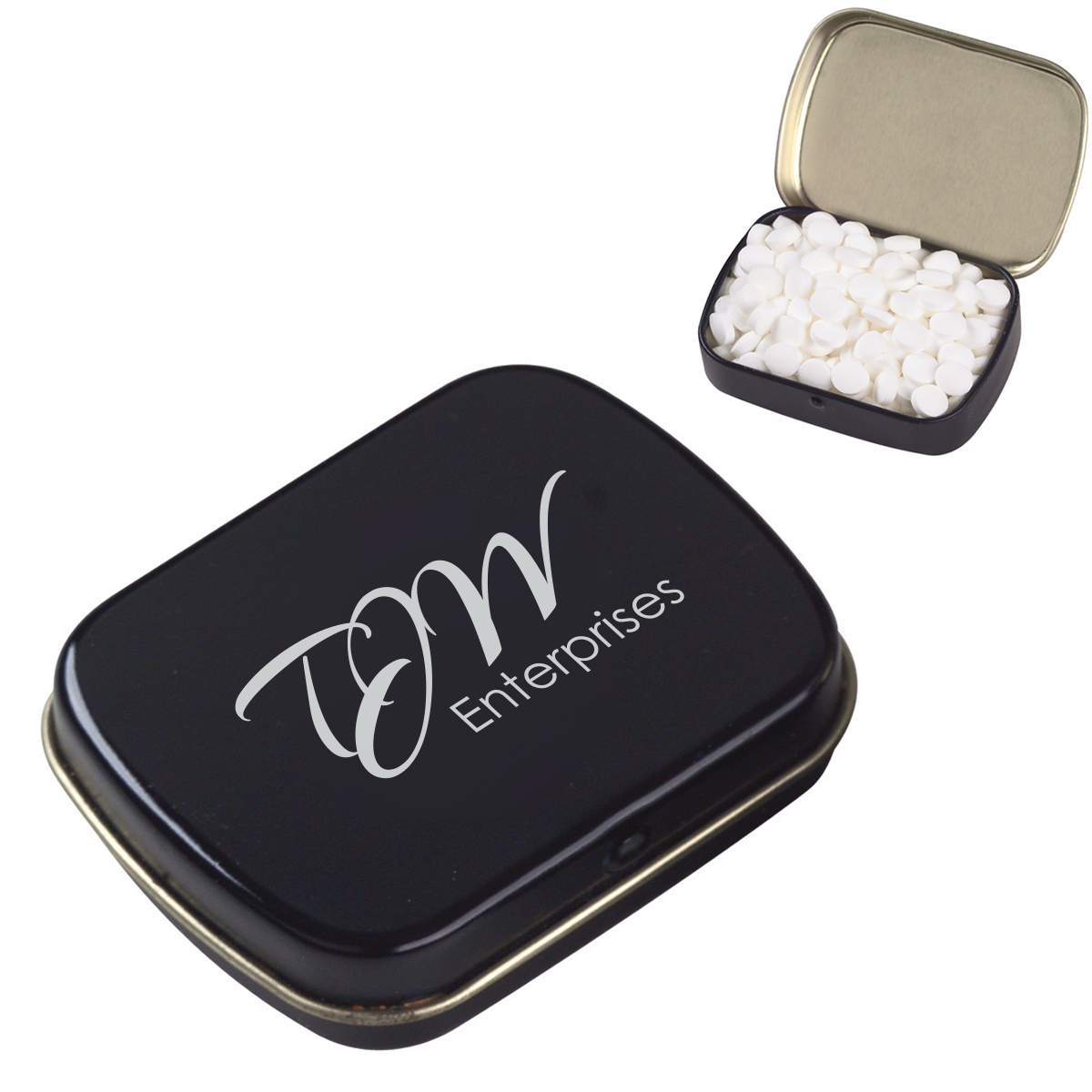 Peppermint Mini Mints in a Small Hinged Tin