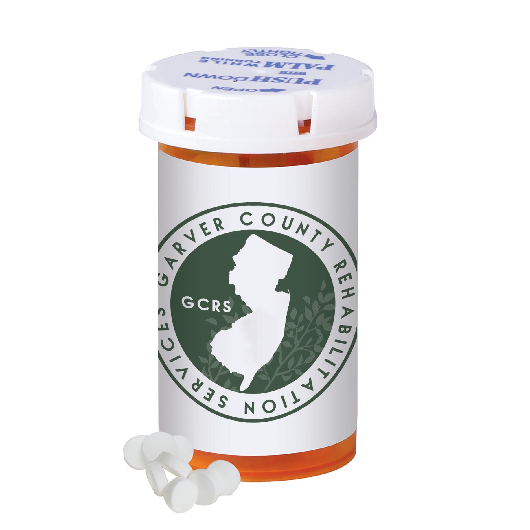 Mini Mints in a Small Pill Bottle