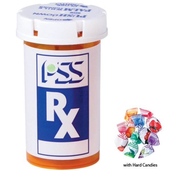 Hard Candies in a Large Pill Bottle